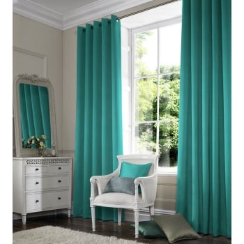 Shangtung Turquoise Green Curtain