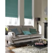 Shangtung Turquoise Green Roman Blind