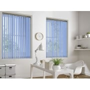 Spectrum Baby Blue Fire Retardant 89mm Vertical Window Blind