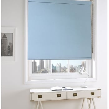 Spectrum Baby Blue Fire Retardant Roller Window Blind