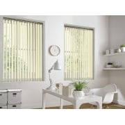 Spectrum Cream Fire Retardant 89mm Vertical Window Blind