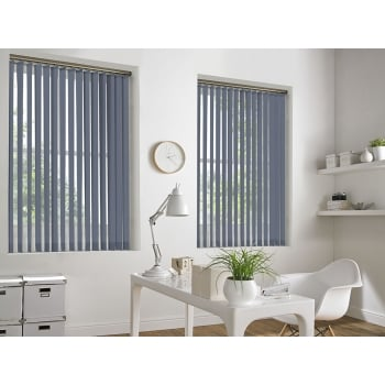 Spectrum Light Denim Fire Retardant 89mm Vertical Window Blind