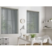 Spectrum Light Grey Fire Retardant 89mm Vertical Window Blind
