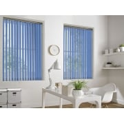 Spectrum Royal Blue Fire Retardant 89mm Vertical Window Blind