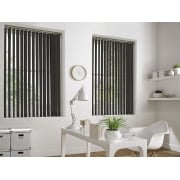 Sunset Grey Brown 89mm Blackout Vertical Window Blind