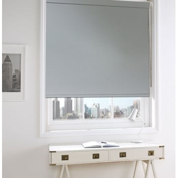 Sunset Light Grey Blackout Roller Window Blind