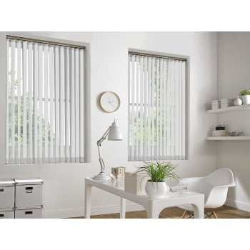Waterfall White 89mm Vertical Window Blind