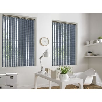 Weave-A-Tex Blue 89mm Vertical Window Blind