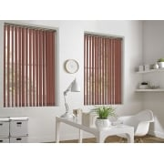 Weave-A-Tex Sunburst Orange 89mm Vertical Window Blind