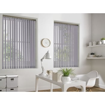 Weave-A-Tex Violet 89mm Vertical Window Blind