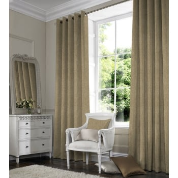 Woven Beige Curtain